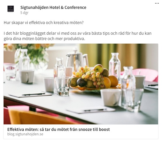 sigtunahojden exempel content marketing